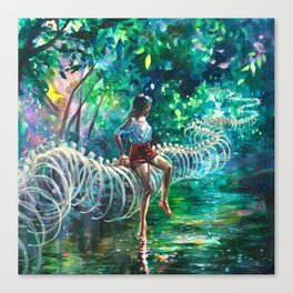 Dopamine Jungle Canvas Print