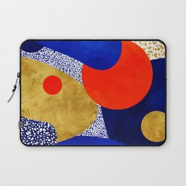 Terrazzo galaxy blue night yellow gold orange Laptop Sleeve
