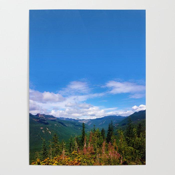 Northern Cascade Sky Poster