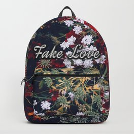 Fake Love Red Floral Backpack