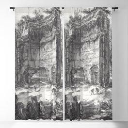 Giovanni Battista Piranesi - The baths fo Trajan (Erroneously called baths of Titus) Blackout Curtain