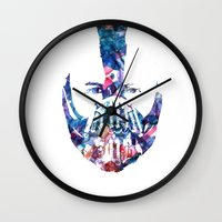 bane Wall Clocks featuring Bane by NKlein Design