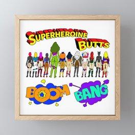 Superheroine Butts BOOM BANG Framed Mini Art Print
