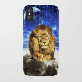 Grumpy Lion iPhone Case