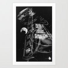 Neon Strip Art Print