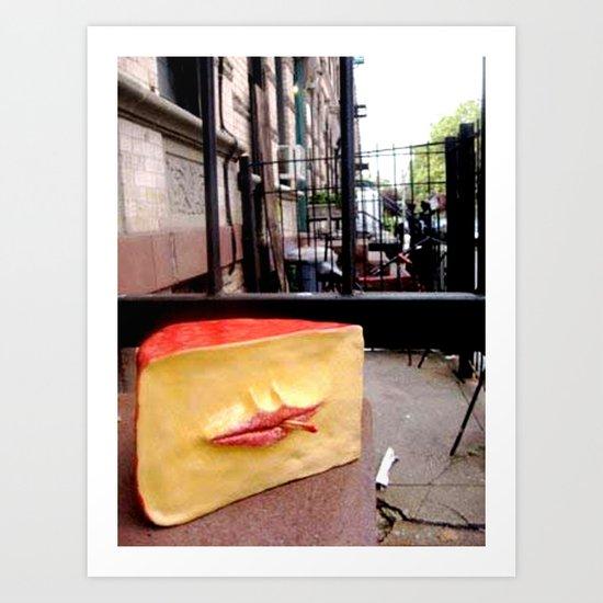 Smoking Cheese Art Print