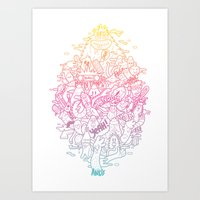 doodle Art Prints featuring Doodle by ANDY