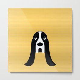 pop dog bassetthound Metal Print