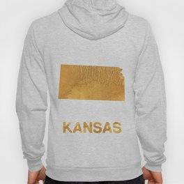 Kansas map outline Sandy brown clouded watercolor Hoody