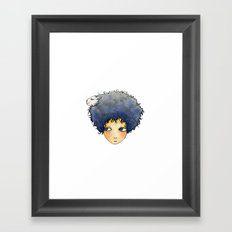 the girl with lamb hair Framed Art Print