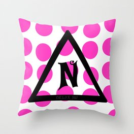 Delta Nu Throw Pillow