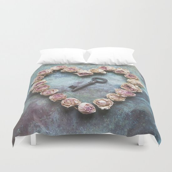 The key to your heart Duvet Cover