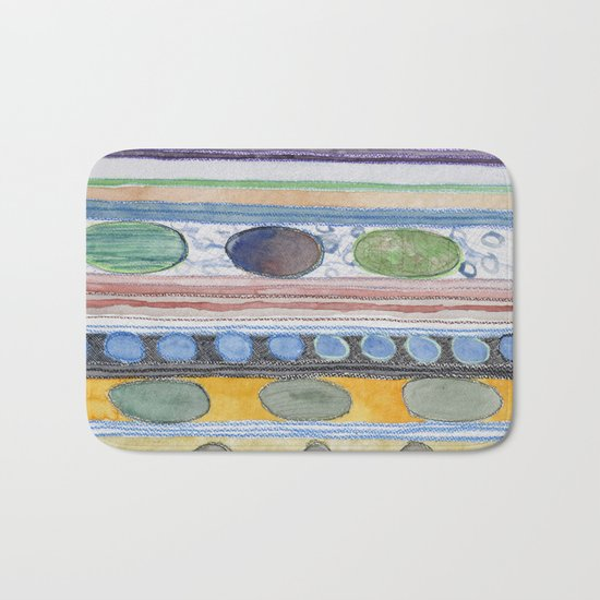 Serene Stripes Bath Mat