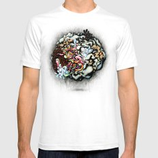 Isolating the Collective Unconscious SMALL Mens Fitted Tee White