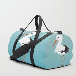Cute stork vector Duffle Bag