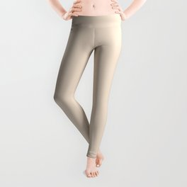PEARLED IVORY soft pastel solid color  Leggings