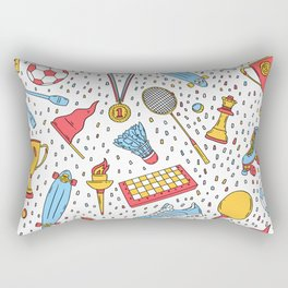 Summer sports pattern Rectangular Pillow