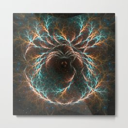 Spiral Nebula Mandala Metal Print