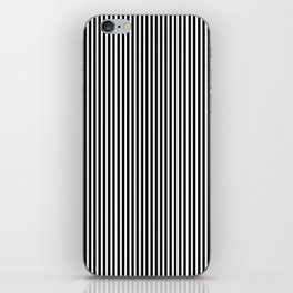 Classic Black and White Pinstripe Pattern iPhone Skin