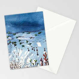 Stormy days at salad beach Stationery Cards