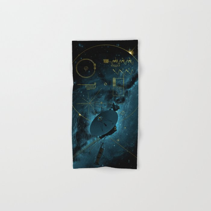 Voyager and the Golden Record - Space | Science | Sagan Hand & Bath Towel