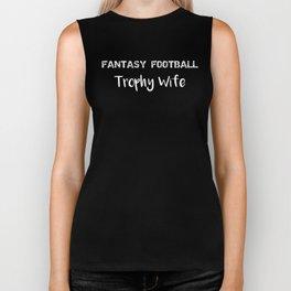 Fantasty Football Trophy Wife Biker Tank