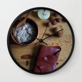 Book and oatmeal Wall Clock