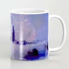 Purple portrait architecture Coffee Mug