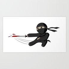 Ninja Swing Art Print