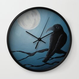 Bluemoon Raven's Dream Wall Clock