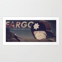 fargo Art Prints featuring Fargo by Virtual Window