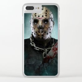 Jason Voorhees Clear iPhone Case