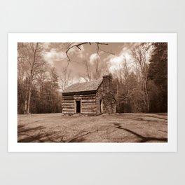 Carter Shields Cabin in sepia Art Print