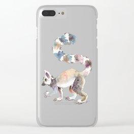 Splotchy Lemur Clear iPhone Case