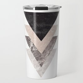 Geometric Shapes. Marble Triangles. Travel Mug