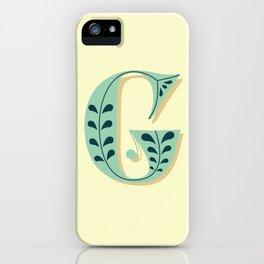 Alphabet Drop Caps Series- G iPhone Case