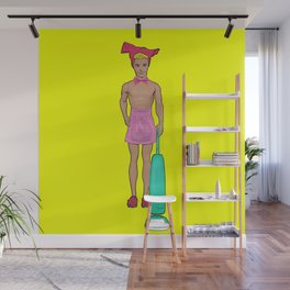 Homie! House Husband! Funny Gay Pop Art! Wall Mural