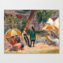 Beach with Figures, Bellport Canvas Print
