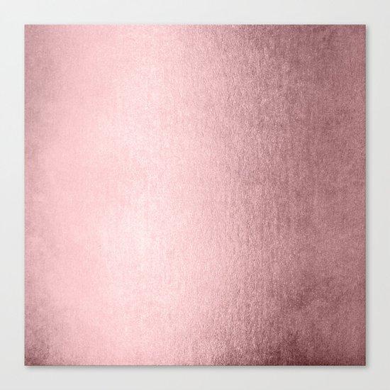 Simply Rose Quartz Elegance Canvas Print