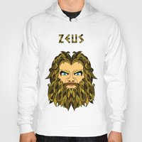 mythology Hoodies featuring Greek Mythology ZEUS by TECHNE