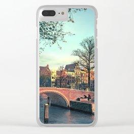 Amsterdam Sunset - Mixed Media Digital Art Clear iPhone Case