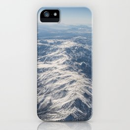 Mountain Range from Above iPhone Case