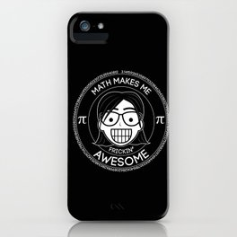 Frickin Awesome - Math Girl iPhone Case
