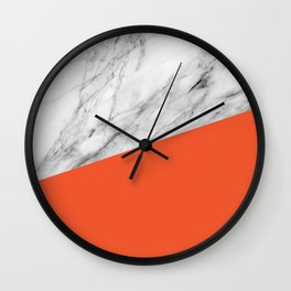 Marble and flame color Wall Clock