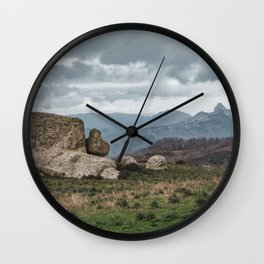 Point of view from Sicilian mountains Wall Clock