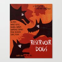 reservoir dogs Canvas Prints featuring Reservoir Dogs by grrrenadine