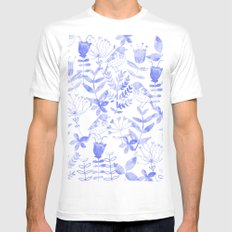 Abstract Botanical Garden III LARGE White Mens Fitted Tee