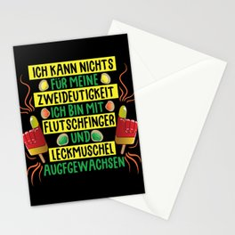Flood finger & licking shell are ambiguous Stationery Cards