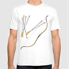 Robin Hood | Fairy Tales White LARGE Mens Fitted Tee