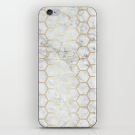 Honeycomb Marble Gold #767 iPhone Skin